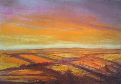 Drawing - Wiltshire Landscape 2 by Paul Mitchell