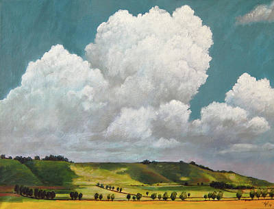 Painting - Wiltshire Skies by Arie Van der Wijst
