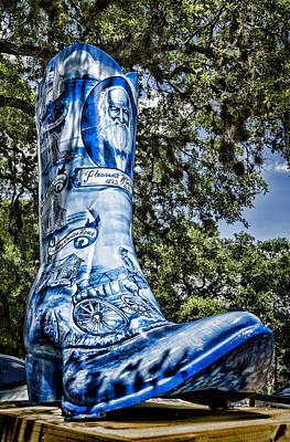 Wimberley Photograph - Wimberley Blue Boot by Stephen Stookey