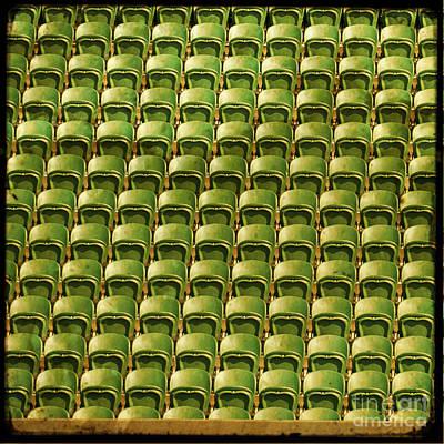 Wimbledon Seats Art Print by Sonia Stewart