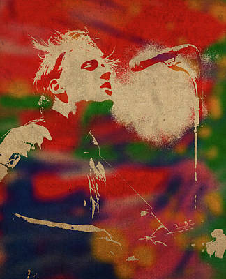 Fire Mixed Media - Win Butler Of Arcade Fire Watercolor Portrait by Design Turnpike
