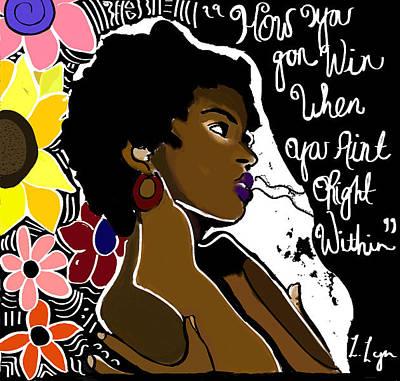 Blackart Digital Art - win by Latoya Hester
