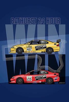 Win Win Holden Monaro Cv8 427c Bathurst 24 Hours Winners 2002 And 2003 Original