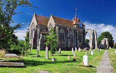 Winchelsea Church Art Print by Nigel Fletcher-Jones