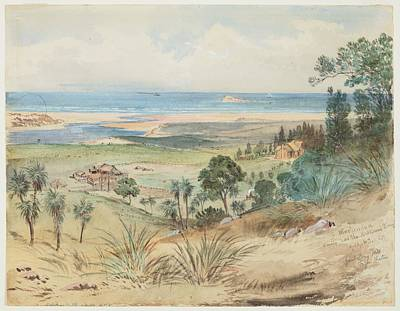 Painting - Winchendon On The Kaikorai River, 1865, By Nicholas Chevalier. by Celestial Images