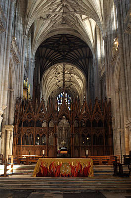 Photograph - Winchester Cathedral Altar by Chris Day