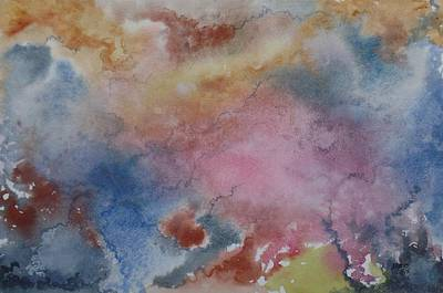 Charting Painting - Wind, Abstract Original Watercolor by David K Myers