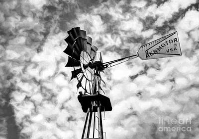 Photograph - Wind And Clouds Black And White by Mel Steinhauer