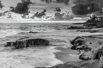 Wind And Sea Black And White Art Print