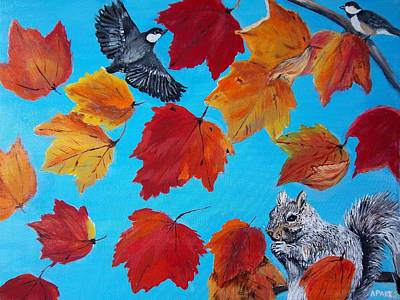 Painting - Wind And The Autumn Sky by Aleta Parks
