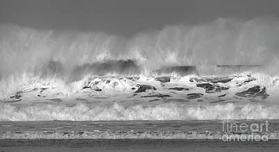 Photograph - Wind Blown Waves by Nicholas Burningham