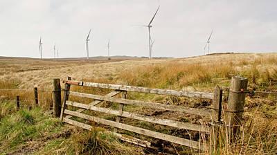 Wind Farm On Miller's Moss. Art Print