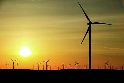 Photograph - Wind Farm Sunrise by Todd Klassy