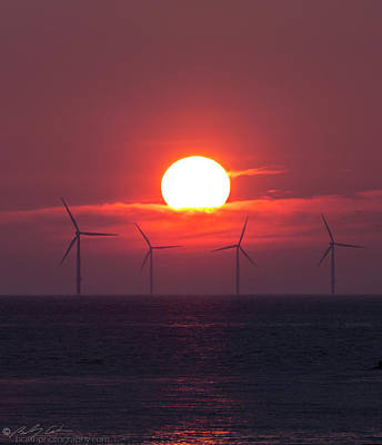 Photograph - Wind Farm Sunset by Beverly Cash