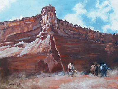 Art Print featuring the painting Wind Horse Canyon by Karen Kennedy Chatham