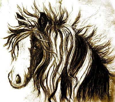 Gypsy Mixed Media - Wind Horse Version Six by Teresa Vecere