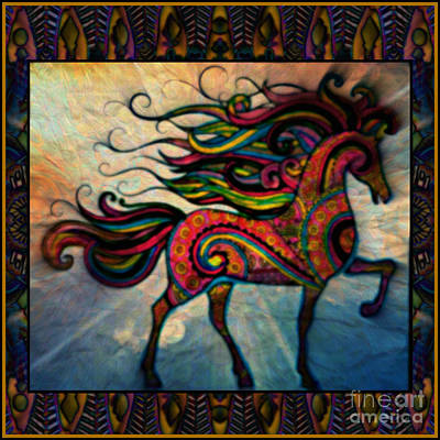 Montage Mixed Media - Wind In Her Mane by Wbk