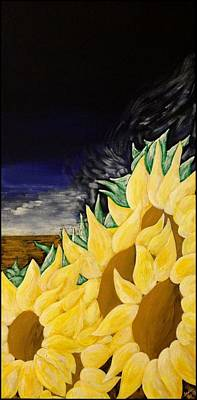 Painting - Wind In The Sunflowers by Heidi Moss