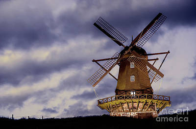 Photograph - Wind Mill At Night by Vyacheslav Isaev