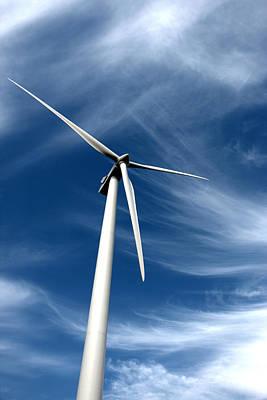 Winter Animals - Wind Mill Big Sky by Tom Baillies