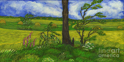 Folkartanna Painting - Wind Over The Fields by Anna Folkartanna Maciejewska-Dyba