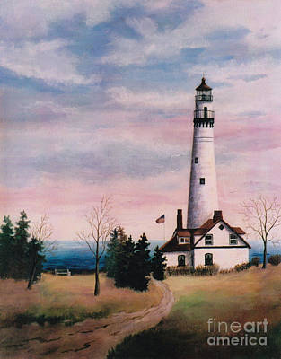 Painting - Wind Point Light by Brenda Thour
