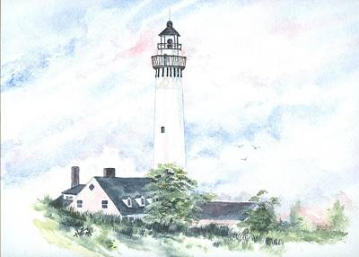 Wind Point Lighthouse Art Print by Denise   Hoff