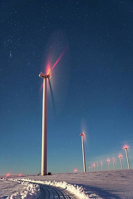 Print featuring the photograph Wind Power by Cat Connor