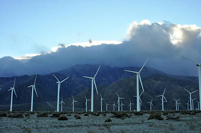 Photograph - Wind Power Near Palm Springs, Ca by Diane Lent