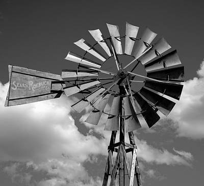 Wind Power On The Farm Print by Daniel Hagerman