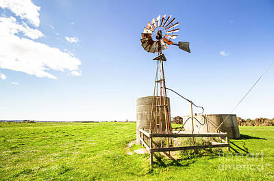 Rural Photograph - Wind Powered Farming Station by Jorgo Photography - Wall Art Gallery