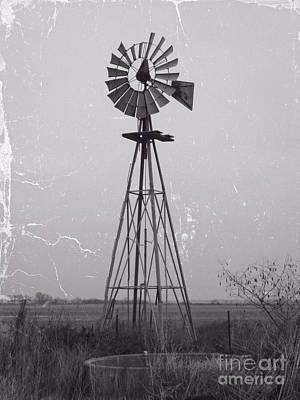 Photograph - Wind Pump And Stock Pond by Ella Kaye Dickey