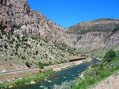 Photograph - Wind River Canyon With Train by George Jones
