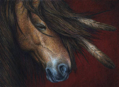 Mane Painting - Wind River by Pat Erickson