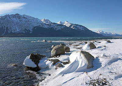 Photograph - Wind Sculpted Snow By The Chilkat Inlet by Michele Cornelius