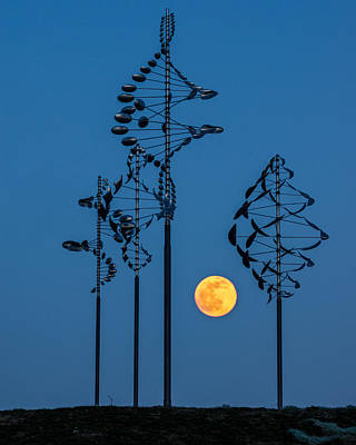 Wind Sculptures At Wilkeson Pointe Art Print by Chris Bordeleau