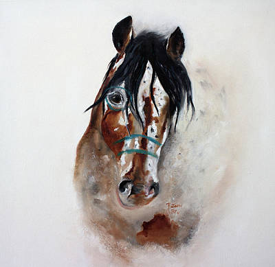 Painting - Wind Song The Appaloosa War Pony by Barbie Batson