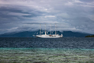 Photograph - Wind Spirit At Anchor by Martin Naugher