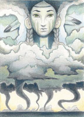 Wind Spirit Dances Art Print by Amy S Turner