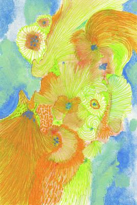 Wind - #ss18dw013 Art Print by Satomi Sugimoto