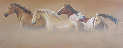 Wildhorses Art Painting - Wind by Stephanie Paige