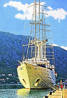 Digital Art - Wind Surf Cruise Ship by Dennis Cox Photo Explorer