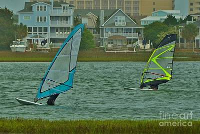 Photograph - Sails Up At Wrightsville Beach Nc by Bob Sample