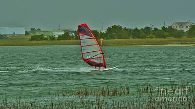 Photograph - Wind Surfing 2 by Bob Sample