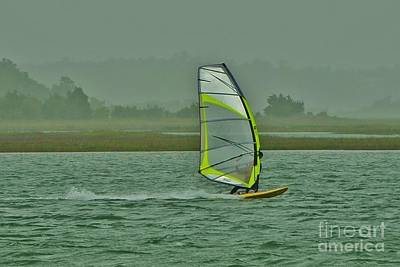 Photograph - Wind Surfing 3 by Bob Sample
