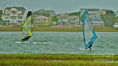 Photograph - Wind Surfing 4 by Bob Sample