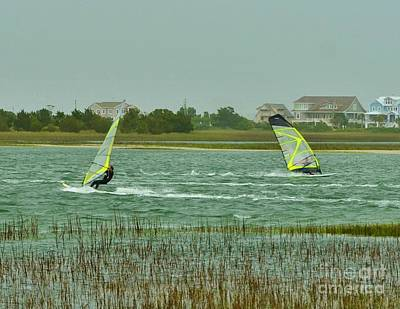 Photograph - Wind Surfing 5 by Bob Sample