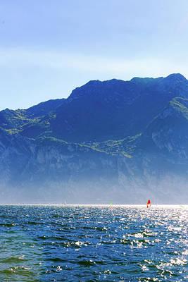 Photograph - Wind Surfing In Riva Del Garda by Susan Schmitz
