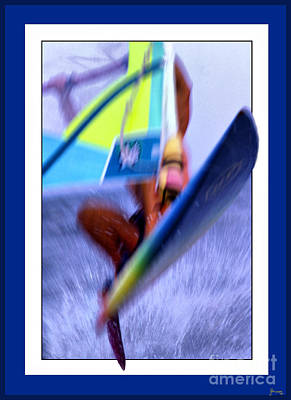 Out Of Frame Photograph - Wind Surfing by Jeff Breiman