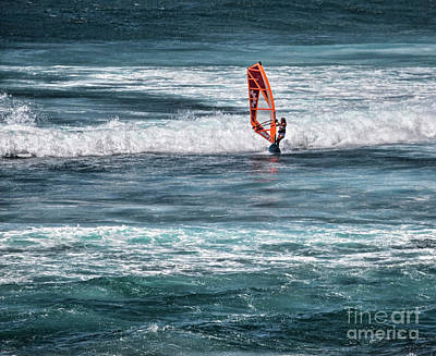 Photograph - Wind Surfing On Maui by Shirley Mangini